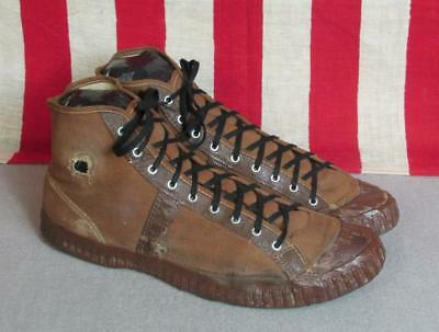 Vintage 1930s Kinneys Canvas Basketball Sneakers Size 8.5 Display Shoes Antique