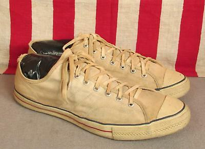 Vintage 1950s Jeepers Canvas Basketball Sneakers Low Top Athletic Shoes Sz.14