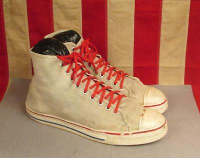 Vintage 1960s Pro Basketball Canvas High Top Sneakers Chucks Sz.13 Mens Keds