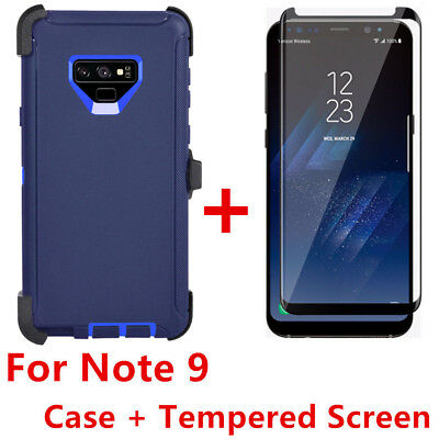 For Samsung Galaxy Note 9 Case W/Screen(Clip Fits Otterbox Defender) NAVY