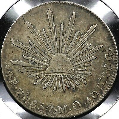 1857Zs-MO FOUR 4 REALES REPUBLIC OF MEXICO