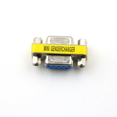 Serial RS-232 DB9 9 Pin Female to Female F/F Gender Changer Coupler Adapter JFAU