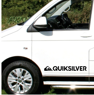 2 x LARGE Quiksilver Logo Car Graphic Sticker Decals  Camper Van Surf Adhesive