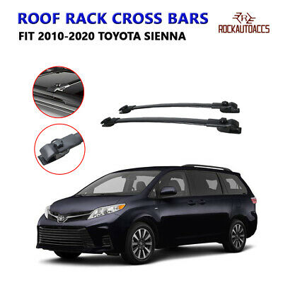 ROOF RACK CROSS BARS FOR TOYOTA SIENNA w/Factory Side Rails 2010 2011 2012 20...