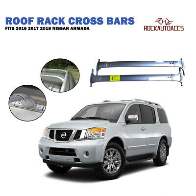 ROOF RACK CROSS BARS FOR NISSAN Armada Patrol w/ROOF SIDE RAILs 2016-2018 ALU...