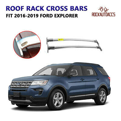 ROOF RACK for Ford Explorer 2016-2018 Stainless Steel Crossbar Baggage Luggag...