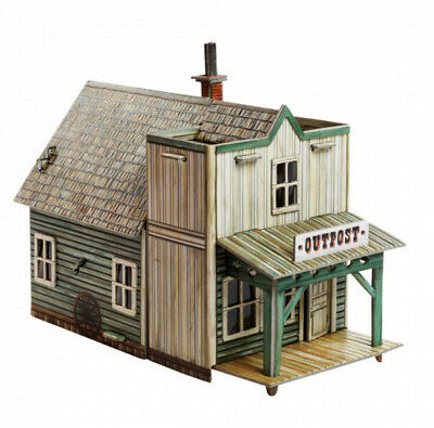 Cardboard model kit. Wild West. Outpost. 3D Puzzle. 1/56 scale.