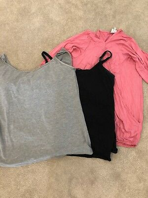 Maternity Nursing Tops Size 16&18 Next And George Vests