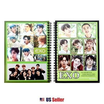 K-Pop Boy Group EXO A5 Spiral Lined Notebook Note Pad : EXO Ver 4