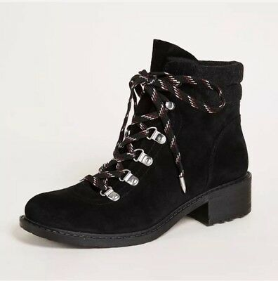 83b64c2c51a8 NEW Sam Edelman Darrah Lace-Up Hiker Suede Booties Boots Shoes Size 7 Black