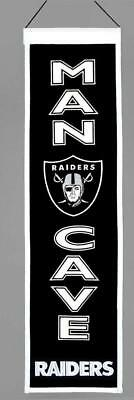 Oakland Raiders Wool Man Cave Banner [NEW] NHL Sign Wall Flag Fan