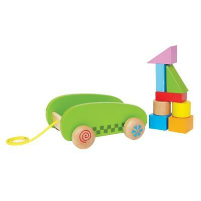 Mini Block and Roll -8 Wooden Block Toys - Fill, Build, Dump, Carry, Push, Play!