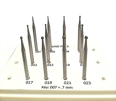 3 Jewelry Bur 12 Pc Sets, Round, Stone Setting, Cup Jewelers Quality
