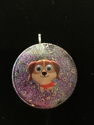 New Puppy Dog Christmas Ornament Holiday Decor Keychain Or Resin Pet Pendant