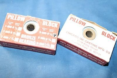 "2 Chicago Pillow Block Bearings 9-500-5 1/2"" Bore"