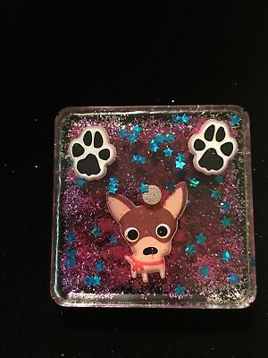 New Chihuahua Dog Puppy Dog Resin Magnet Home & Kitchen Decor Gift Paw Print