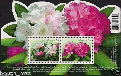 Canada Stamps — Souvenir Sheet — Flowers, Rhododendrons #2318 — MNH