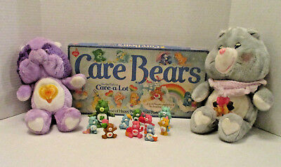 Mixed lot Vintage Care Bear Toys plushies, pvc figures, board game, nice variety