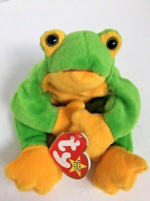 TY Beanie Baby - SMOOCHY the FROG - Retired