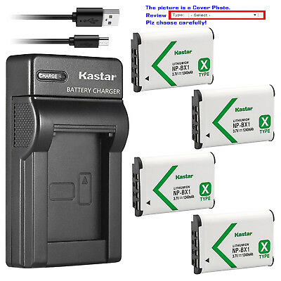 Kastar Battery Slim Charger for Sony NP-BX1 BC-CSX & Sony Cyber-shot DSC-HX400V