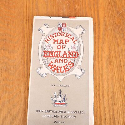 Historical Map of England & Wales Vintage