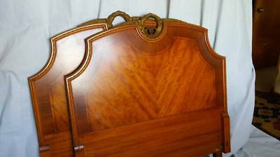 Exquisitely Inlaid Pair of French Headboards