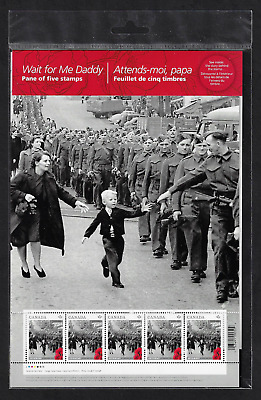 Canada Stamps - Pane of 5 - 2014, World War II : Wait For Me Daddy #2794 - MNH