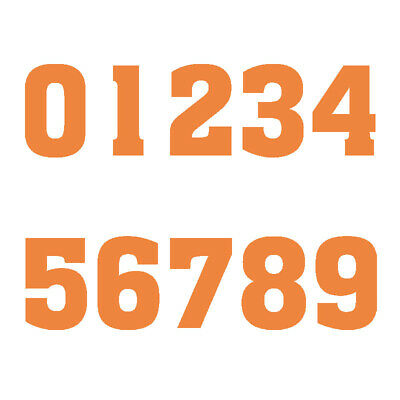 Orange DIY Adult Jersey Number Vinyl Heat Transfer Iron-On Sports T-Shirts Parts