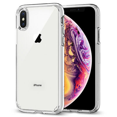 For iPhone X, XS, XS Max, XR Case Spigen® [Ultra Hybrid] Protective Clear Cover