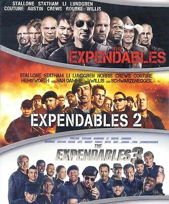 Expendables 3-movie Collection, new DVD, Stallone, Willis, Schwarzenegger, Ford