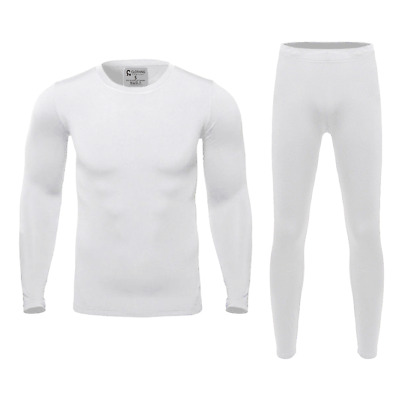 Mens High Quality Ultra-Soft Fleece Lined Thermal Base Layer Top & Bottom Set