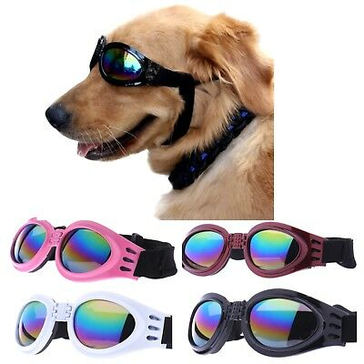 Dog sunglasses | UV rays Protection Adjustable Chin strap | Pink White Black Red