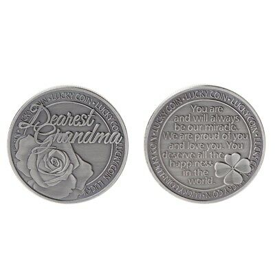 Commemorative Coin Lucky Words Happiness Flower Collection Arts Gifts Souvenir