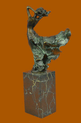 Museum Quality J. Erte Nude Naked Girl Bronze Sculpture Bookend Book End Statue