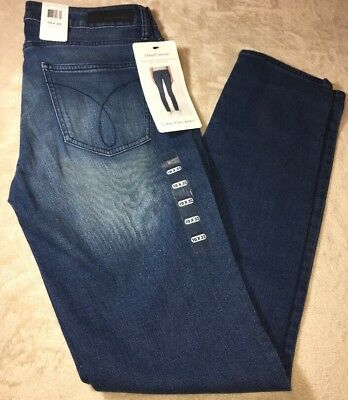 Calvin Klein Jeans Women's Ultimate Skinny Jeans, Star Blue Size 10X32 NWTs