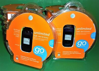 BRAND NEW! LOT OF 10 AT&T Z222 GoPhone - Dark Blue Prepaid Cellular Phone