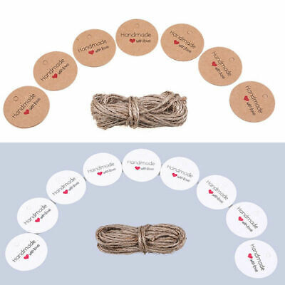 Lots 100pcs Kraft Paper Hang Tags Wedding Party Favor Label Gift Blessing Cards