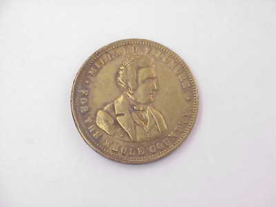 """ORIG 1856 Millard Fillmore Presidential Campaign Token """"For The Whole Country"""""""