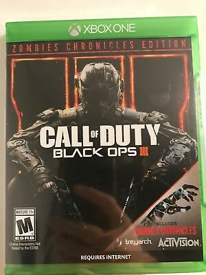 Call of Duty Black Ops III 3 Zombies Chronicles Edition XBox One New Sealed