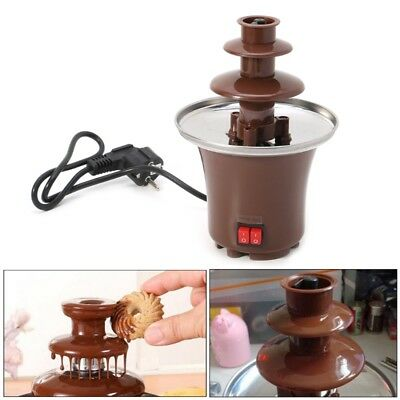 3-Tier Chocolate Fountain Machine Fondue Maker Heated Mini Home Household Party