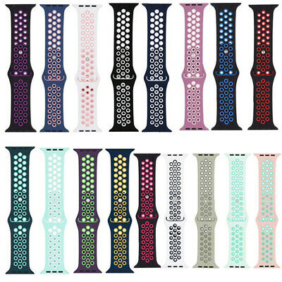 Sport Silicone Strap Watch Band for Apple Watch Series 4 3 2 1 38/42mm 40/44mm
