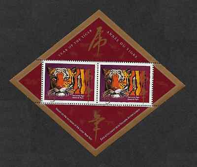 Canada - Souvenir Sheet - Chinese / Lunar New Year: Year of the Tiger #1708a MNH