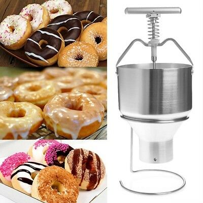Manual Donut Dispenser Doughnut Cake Dropper Maker Depositor Plunger Hopper
