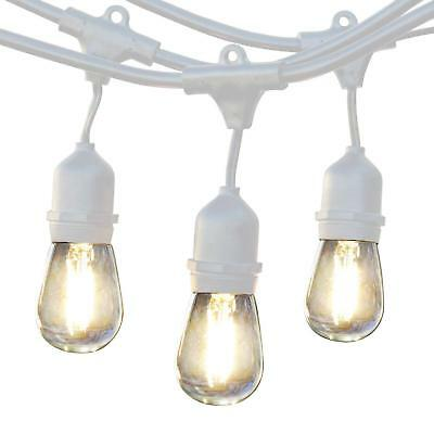 LED Commercial Grade Waterproof Outdoor String Lights Brightech Ambience Pro