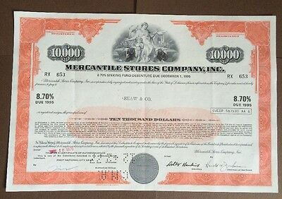8,7% Mercantile Stores Company Inc. Sinking Fund Debenture, 1970 (10.000 $)