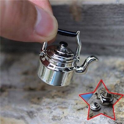 Miniature Alloy Vintage Kettle 1/6 1/12 Scale Model Home Toys Accessories UK