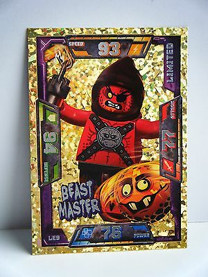New Rare Lego Nexo Knights Limited Edition Beast Master Trading Card Nexo Game