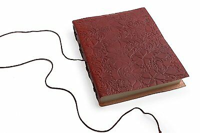 Embossed handmade diary, Journal Notebook, Leather diary, Cotton paper 47