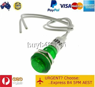 50x Green Pilot Light Indicator Lamp 240V Panel Mount Signal Led Neon 10mm hole