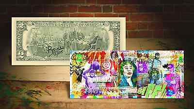 Batman Holy Billete de Derechos Bill Firmado & Numerado por Rency de 215 Banksy
